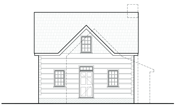 Log House Elevation