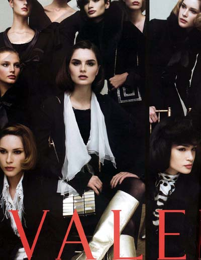 Models wearing black on the cover of Vale magazine