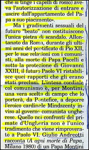 Montini Homossexual e comunista