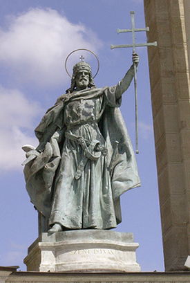 Image result for King Stephen I, the first king of Hungary