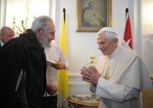 Benedicto XVI recibe a Fidel Castro