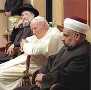 Juan Pablo II entre los Judios y musulmanes