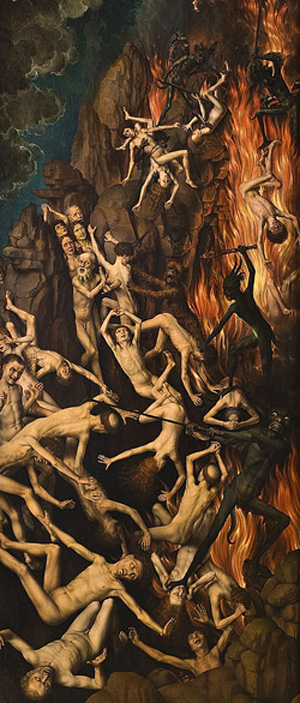Paint Falling Wallpaper The Lily Amp Sword In The Last Judgment Triptych By Hans