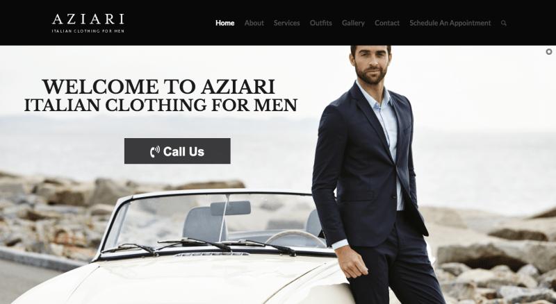 kinect marketing portfolio aziari italian clothing for men miami