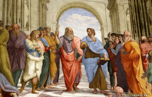 Aristotle and Plato--Raphael
