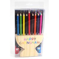 Hanukkah | Children's Gifts | Menorah Colored Pencil Holder
