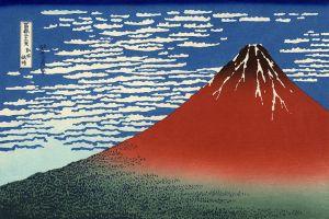 Fuji rosso, dalla serie Trentasei vedute del Fuji.