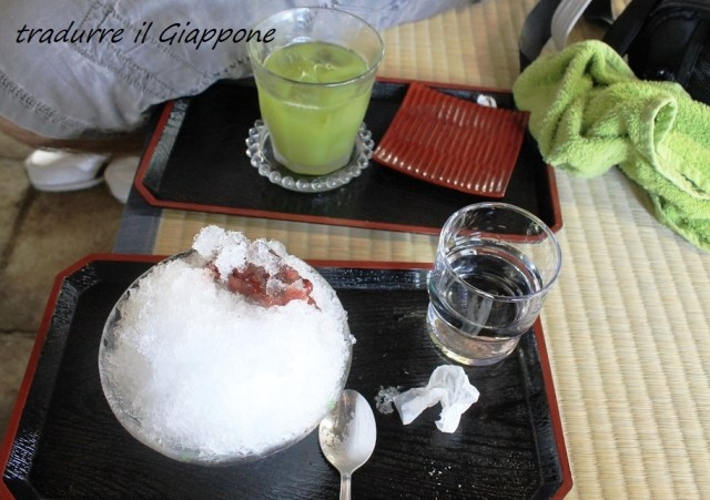 Kakigori e tè verde freddo a Kamakura