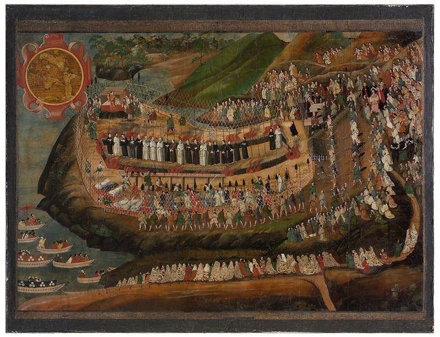 Martirio dei 70 giapponesi ed europei a Nagasaki il 10 novembre 1622 Foto di Zeno Colantoni. Tratta da www.gliscritti.it