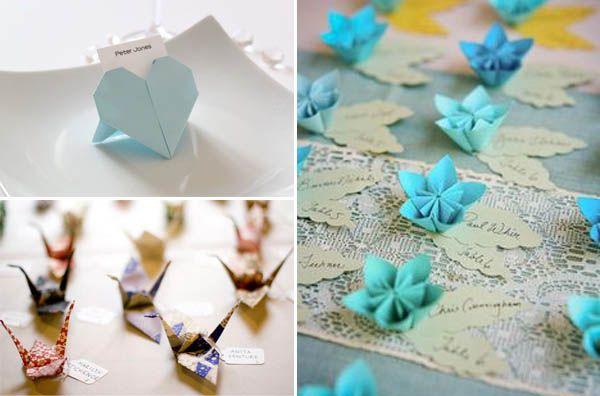 origami segnaposto