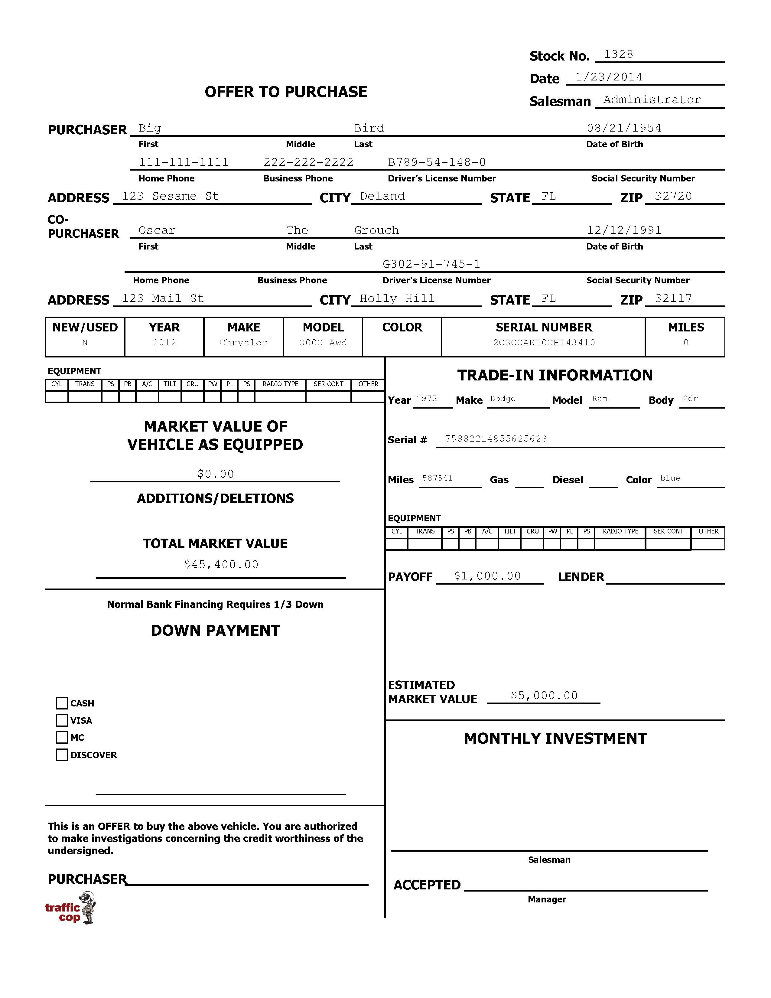 Control Worksheet