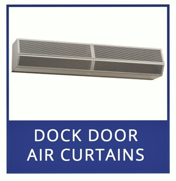 Heated Air Curtains and Electric Heated Air Door for Dock