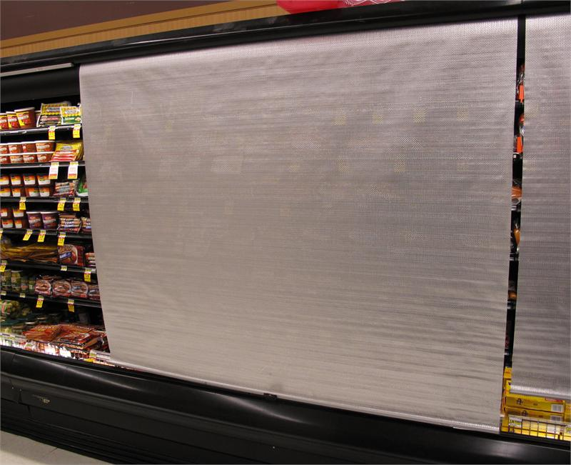 swinging kitchen door used equipment roll down night covers for refrigerated grocery deli cases ...