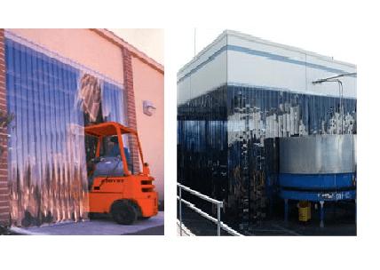Warehouse Door Strip Curtain Enclosure With Plastic Strip Door