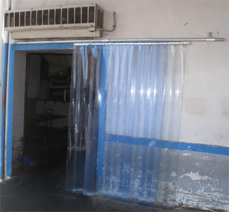 Slide Open Plastic Curtain Strips  Roll Open Strip