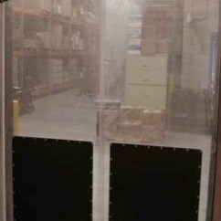 Restaurant Kitchen Door Cleaning Wood Cabinets Clear Plastic Pvc Swinging Doors Swing For With Impact Plates