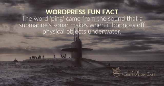 Where does WordPress ping come from?