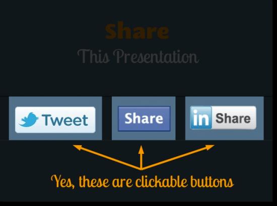 Slideshare social sharing