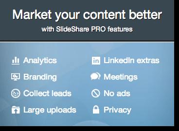 Slideshare premium options