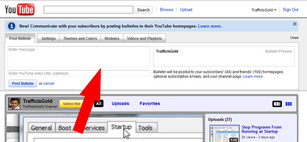 Image result for youtube bulletins