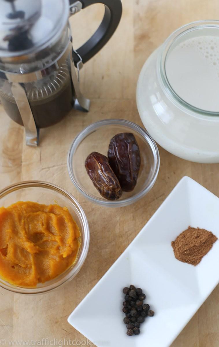 World's best Pumpkin Pie Spice Latte with real pumpkin-Ingredients