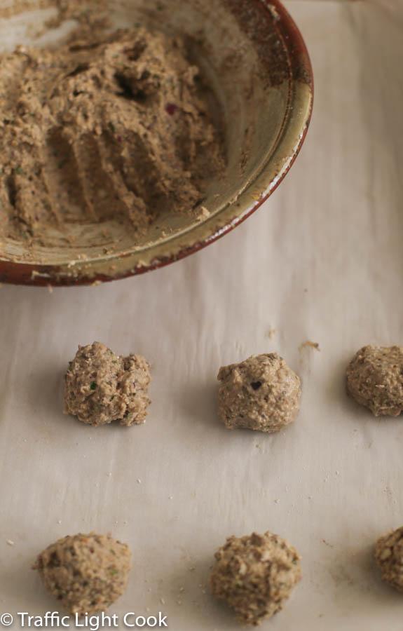 Meat (less) Balls (Italian-style)-Process