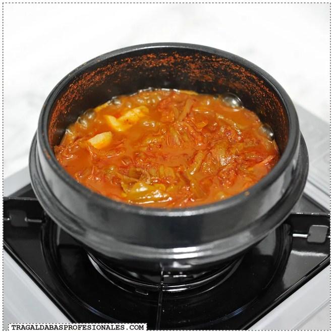 Tragaldabas Profesionales - Sopa coreana kimchi jjigae - Sin tofu