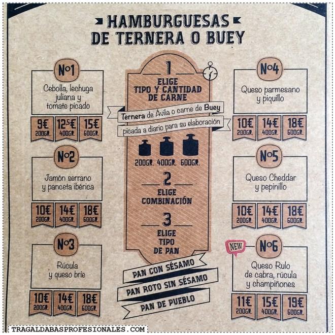 Hamburguesas en Madrid - Bacon cheese burger - Tragaldabas Profesionales - Restaurante Mediavuelta