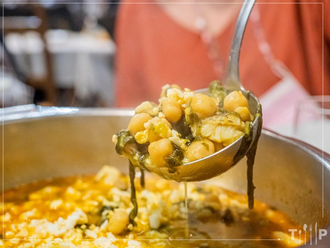 Menú de Desarme - Garbanzos, bacalao y espinacas - Restaurante El Ñeru