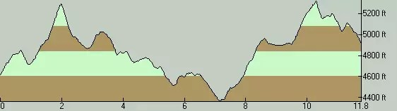 Rho Ridge Trail Elevation Profile