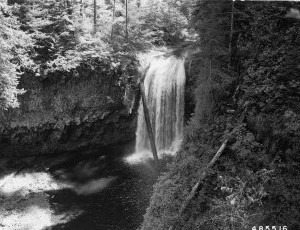 South Fork Clackamas River Falls - 1957
