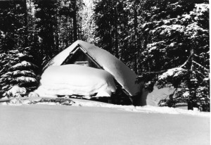 Olallie Meadow Cabin in the snow - 1966