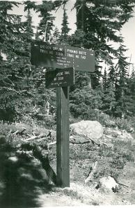 Pyramid Butte Trail Sign - Undated