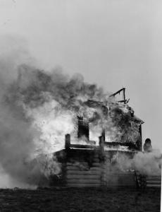 This is not in the district, but is sickening - burning a lookout on Marys Peak -1959
