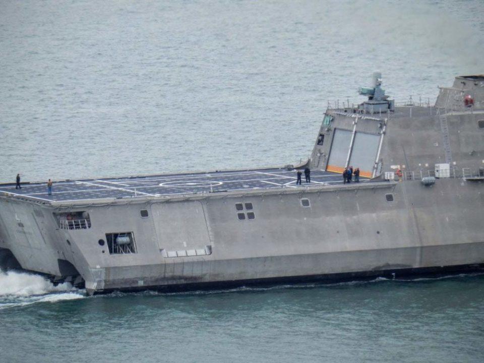 US Navy Ship Deck