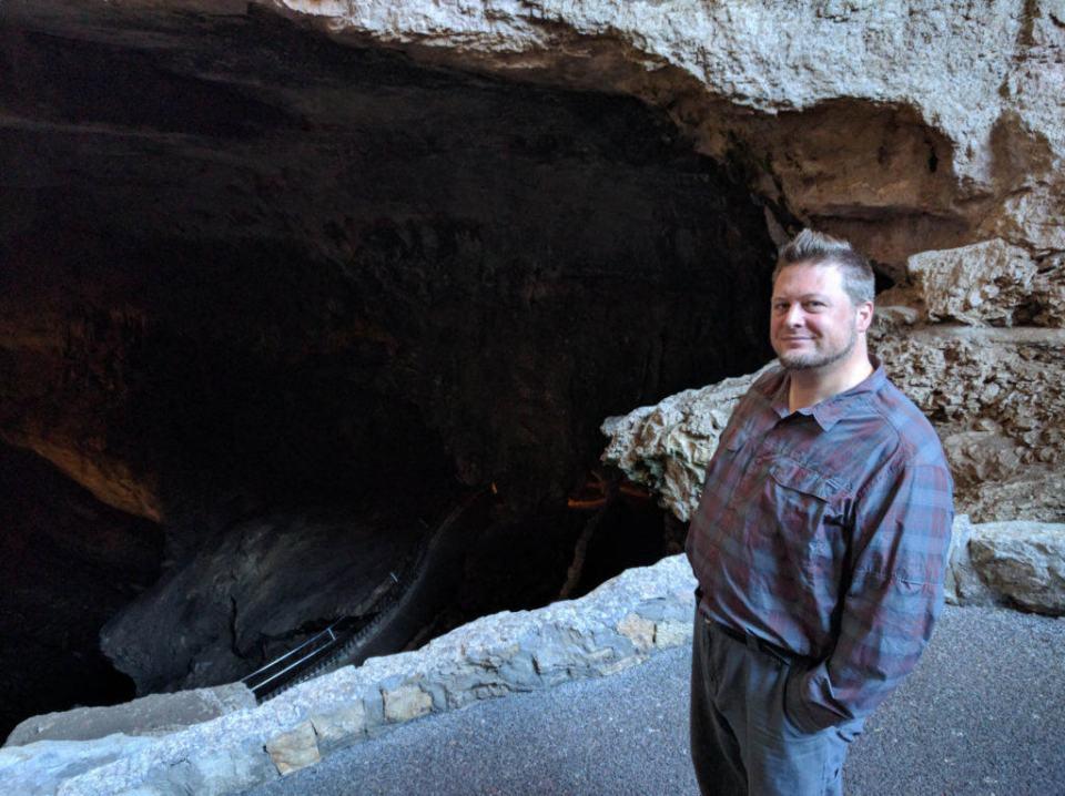 Hitch at Carlsbad Caverns Entrance