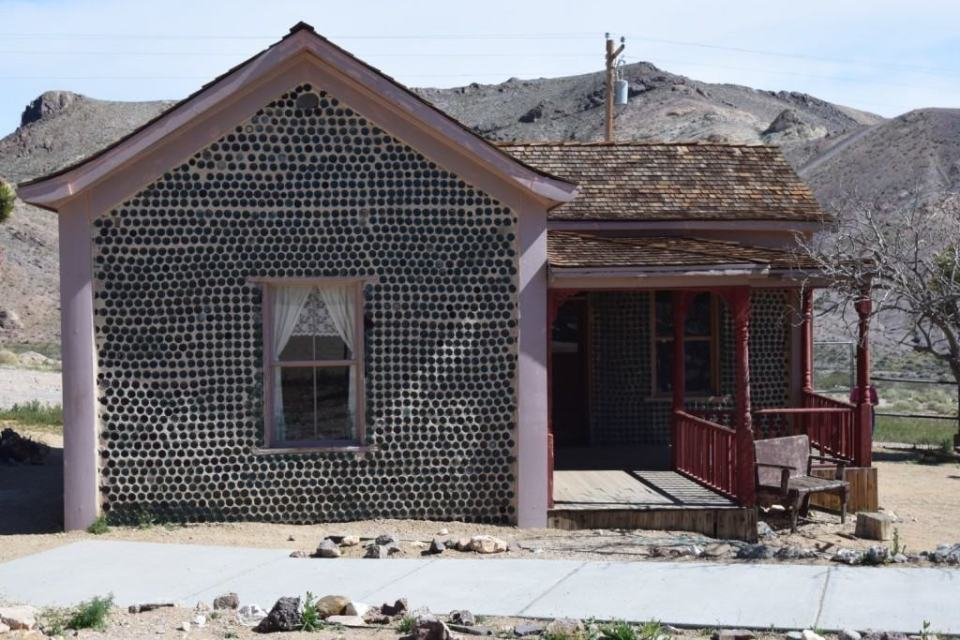 Bottle House restored for the movie, The Air Mail.