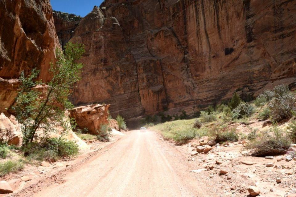 Love the off-roading inside of Capitol Gorge Drive