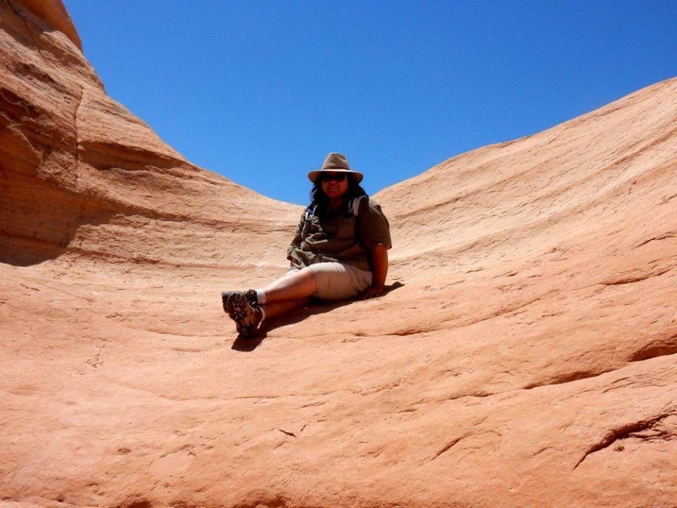 Trail Sitting on Slick Rock
