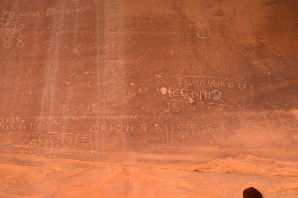 Pioneer Register proper. I guess it's not graffiti if you do it over 100 years ago