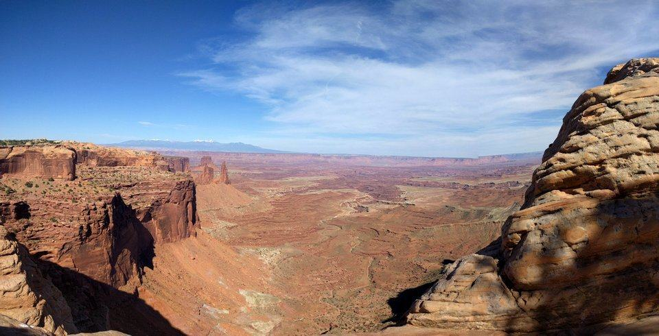 The view behind Mesa Arch