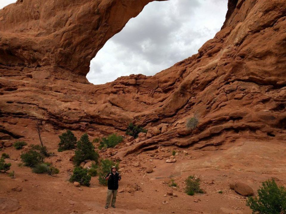 Back half of South Window Arch