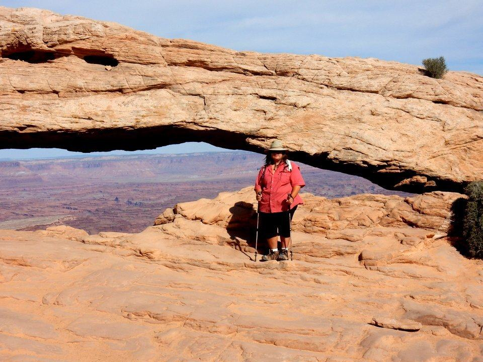 Gotta pose in front of Mesa Arch
