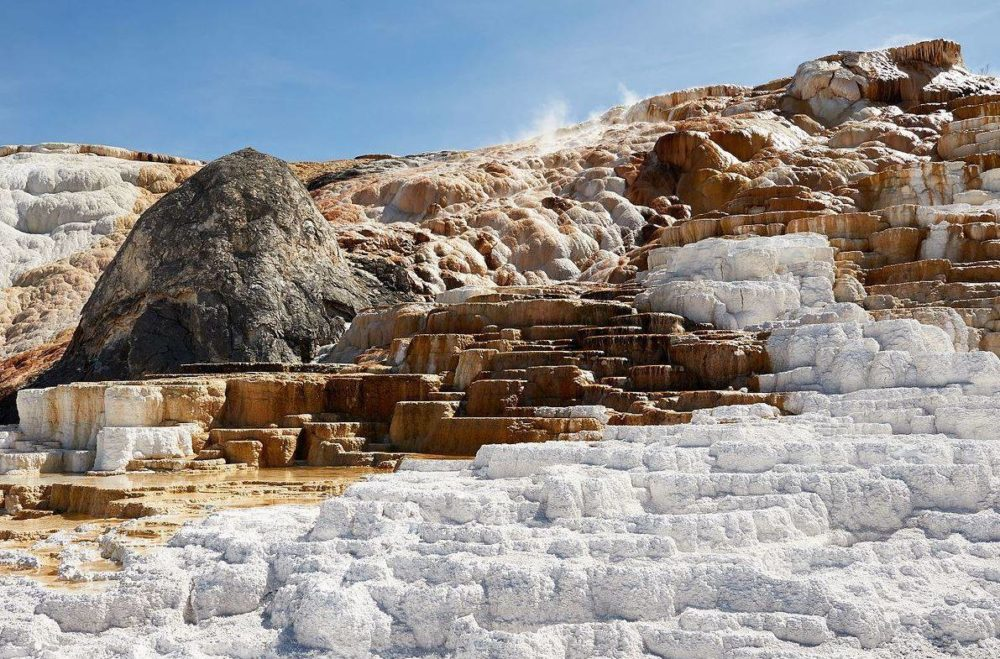 Travertine Terraces of Mammoth Hot Springs