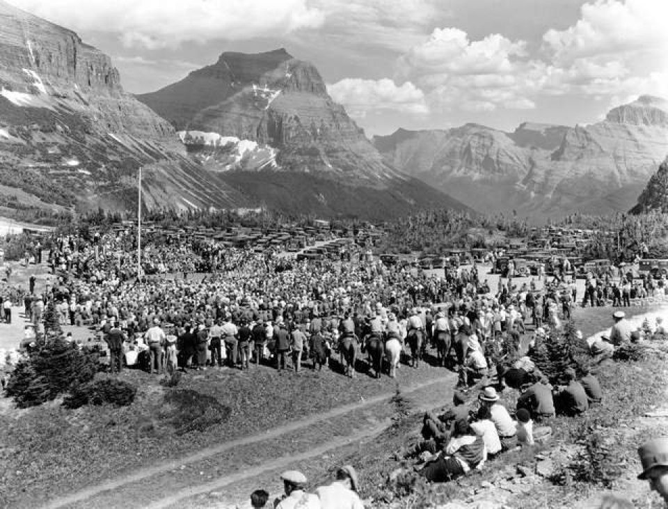 Dedication of Going-To-The-Sun Road in 1933