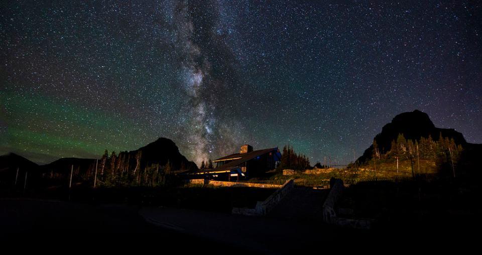 Logan Pass Visitor Center at Night
