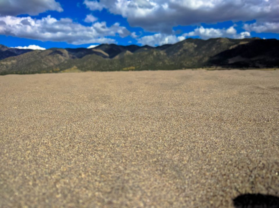 This sand comes from the dry lake beds found in the San Luis Valley