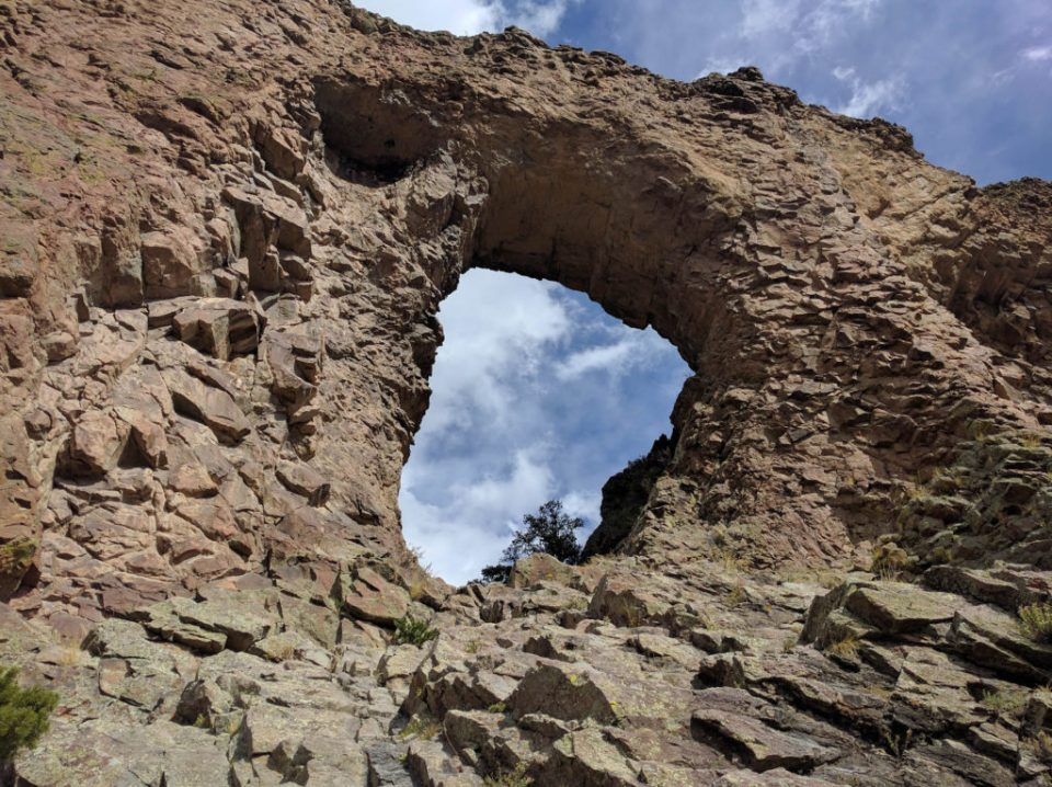 Natural Arch From Halfway Up