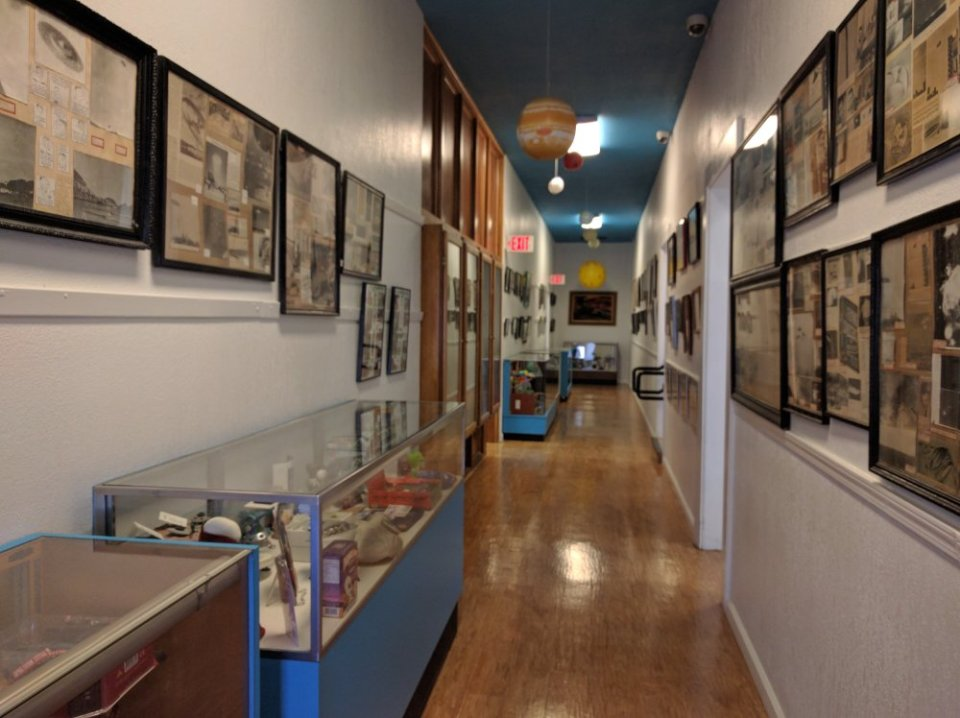 Display Cases in the Roswell UFO Library