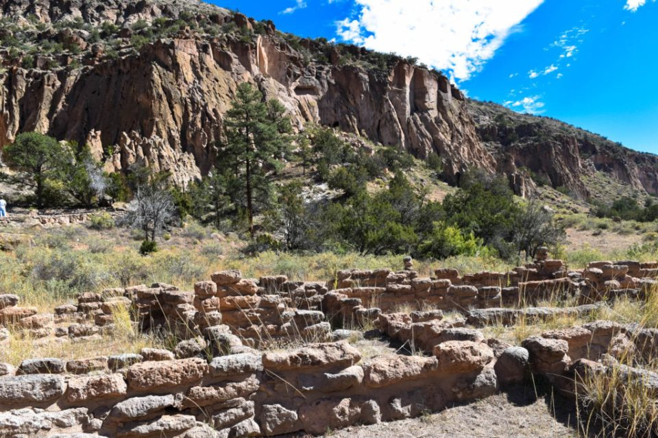 View of the Cliff From the Pueblos